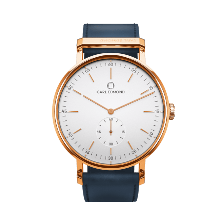 Carl Edmond 36mm white deluxe gold